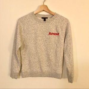 J. Crew Amour sweatshirt • size XS